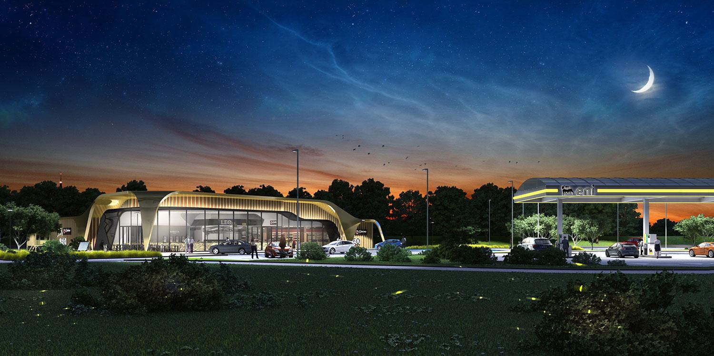 Ludovic Magnifico Architecture Aire de Giberville SIGHOR/ENI